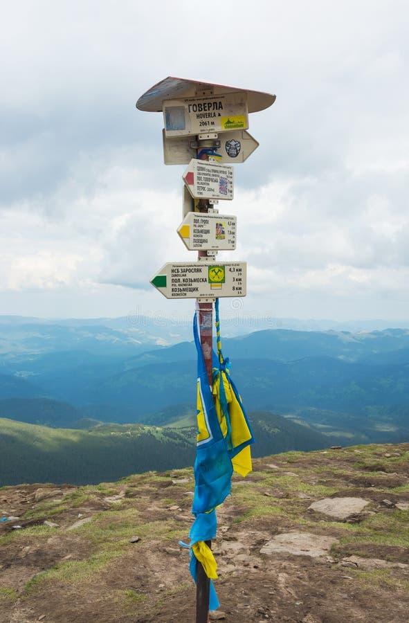 Hoverla Montagne carpatiche, Ucraina 30 05 2015 editoriale fotografia stock libera da diritti