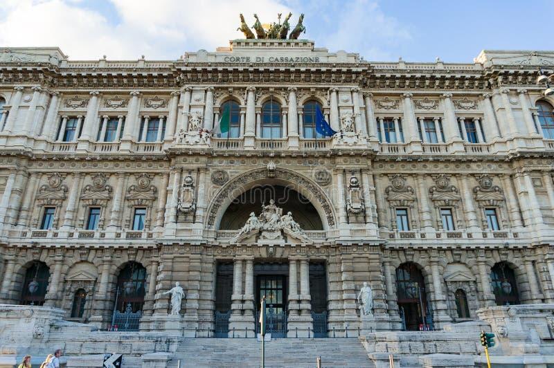 Hovrätt slott av rättvisabyggnadsyttersida, Rome ital royaltyfri fotografi