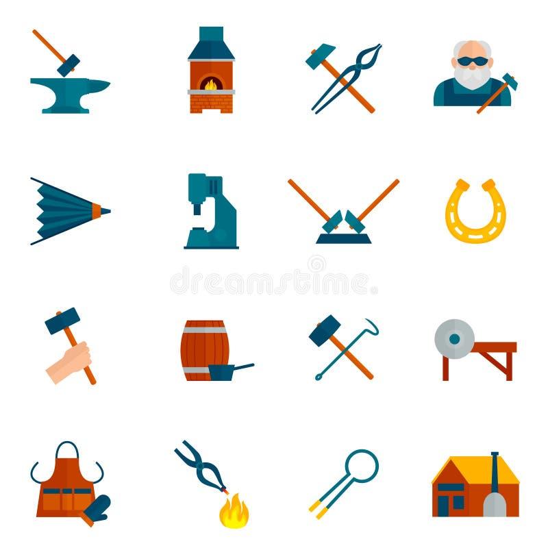 Hovslagare Icon Flat stock illustrationer