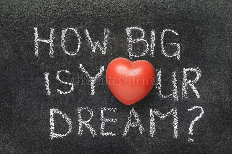 How big is your dream stock image