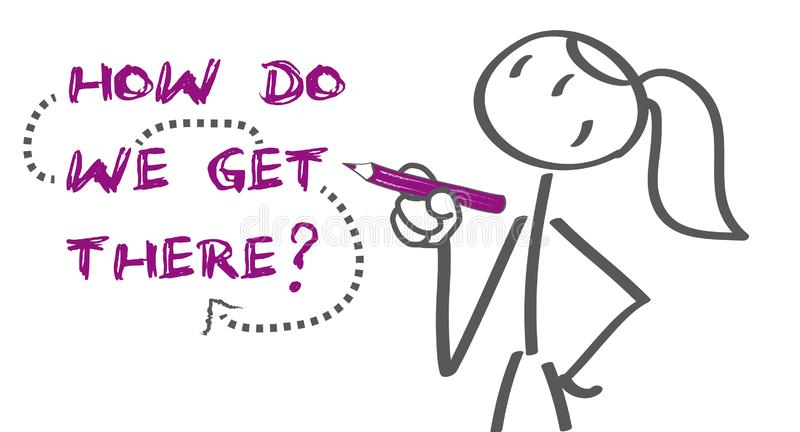 How Do We Get There - vector illustration royalty free stock images