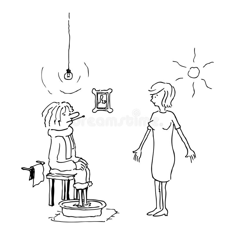 Download How do you feel? stock illustration. Illustration of basin - 22880521