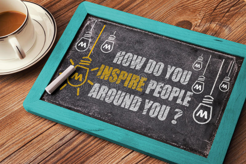 How Do You Inspire People Around you?. On blackboard royalty free stock photography