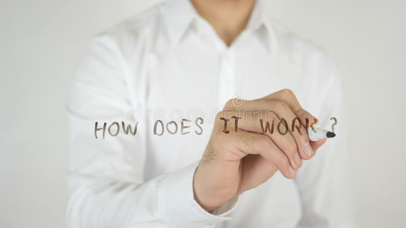 How Does it Work ?, Written on Glass. High quality stock images