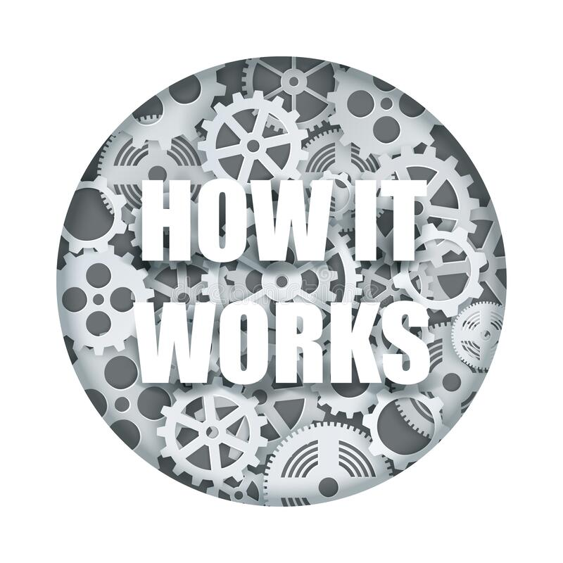 Free How It Works, Clock Mechanism Vector Paper Cut Illustration Stock Photos - 170158953