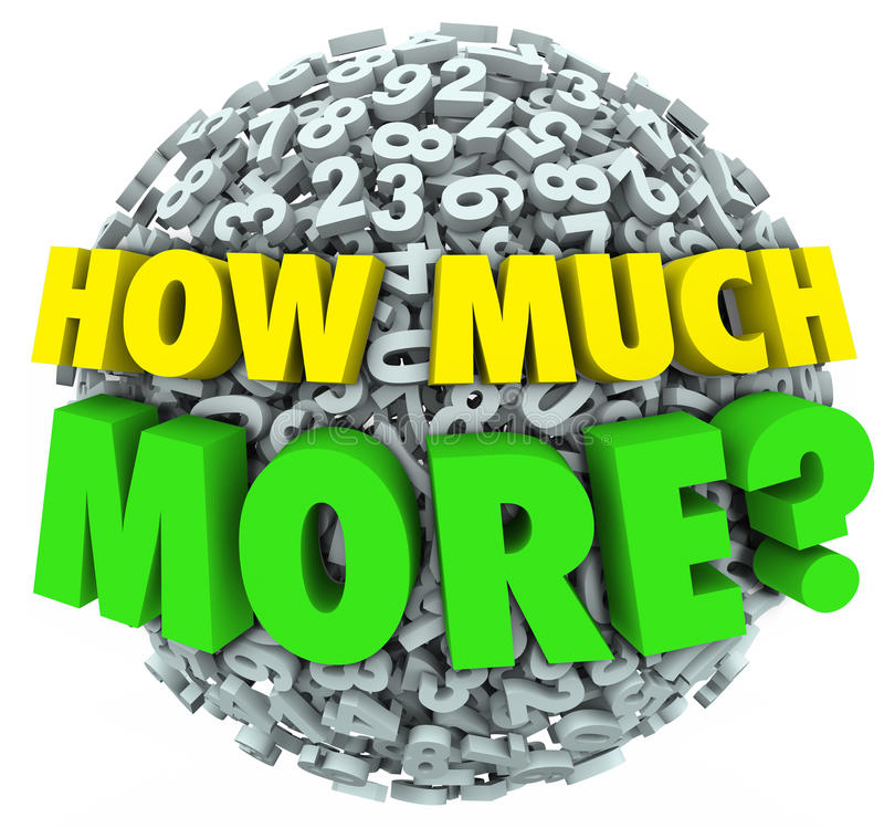 Free How Much More Question Numbers Ball Additional Want Need Stock Photos - 51511503