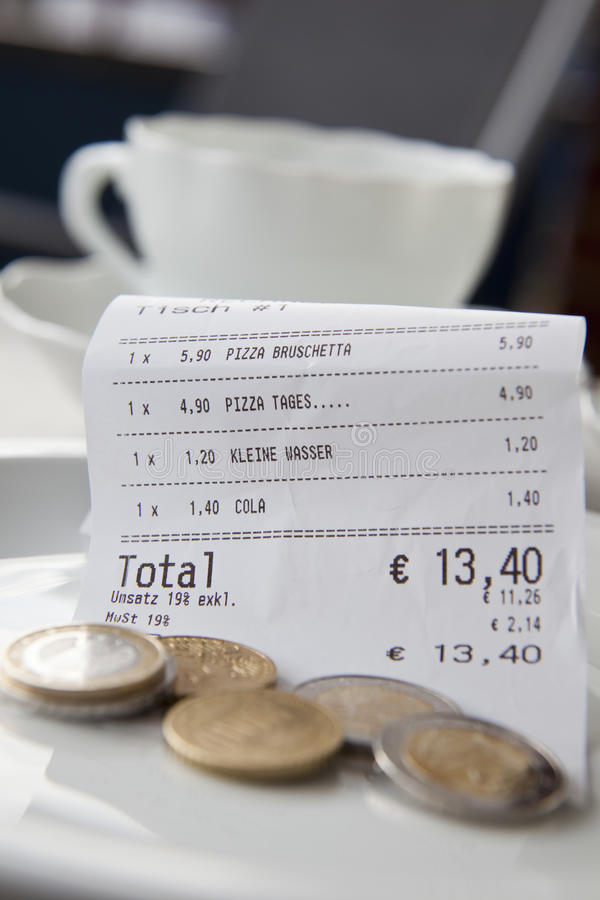How Much Tip Stock Photo