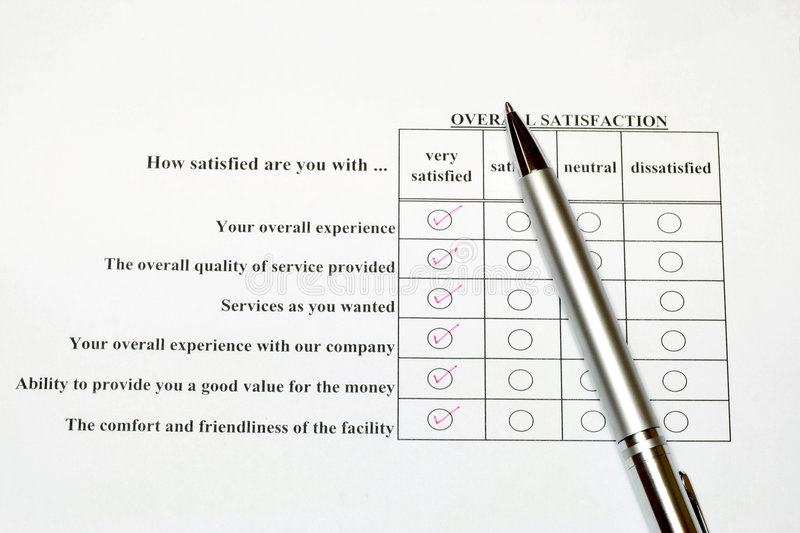 Download How Satisfied Are You Survey Stock Image - Image: 4076361
