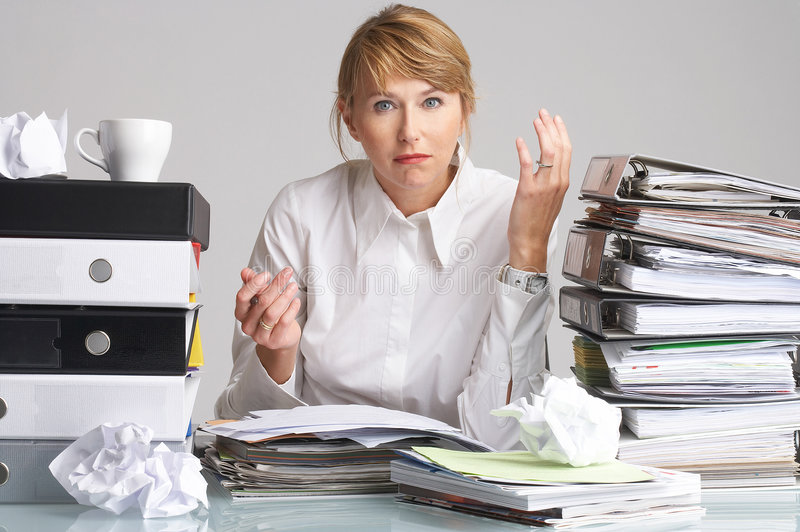 Download How Should I Do All This On Time? Stock Photo - Image of pile, work: 1411628