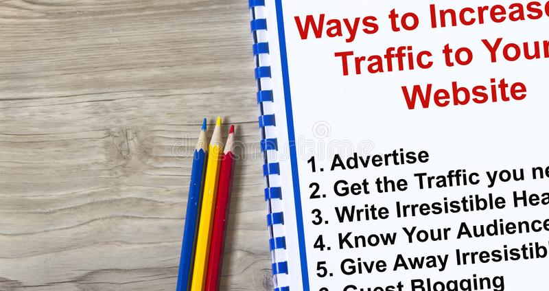 How to attract traffic to your web site royalty free stock images