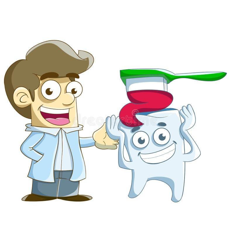 How to brush teeth royalty free stock photos