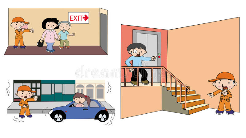 Download How To Deal With Emergency Illustration Stock Vector - Illustration of exit, illustration: 31572473