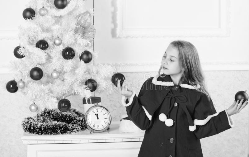 How to decorate christmas tree with kid. Let kid decorate christmas tree. Favorite part decorating. Getting child. Involved decorating. Girl smiling face hold stock images