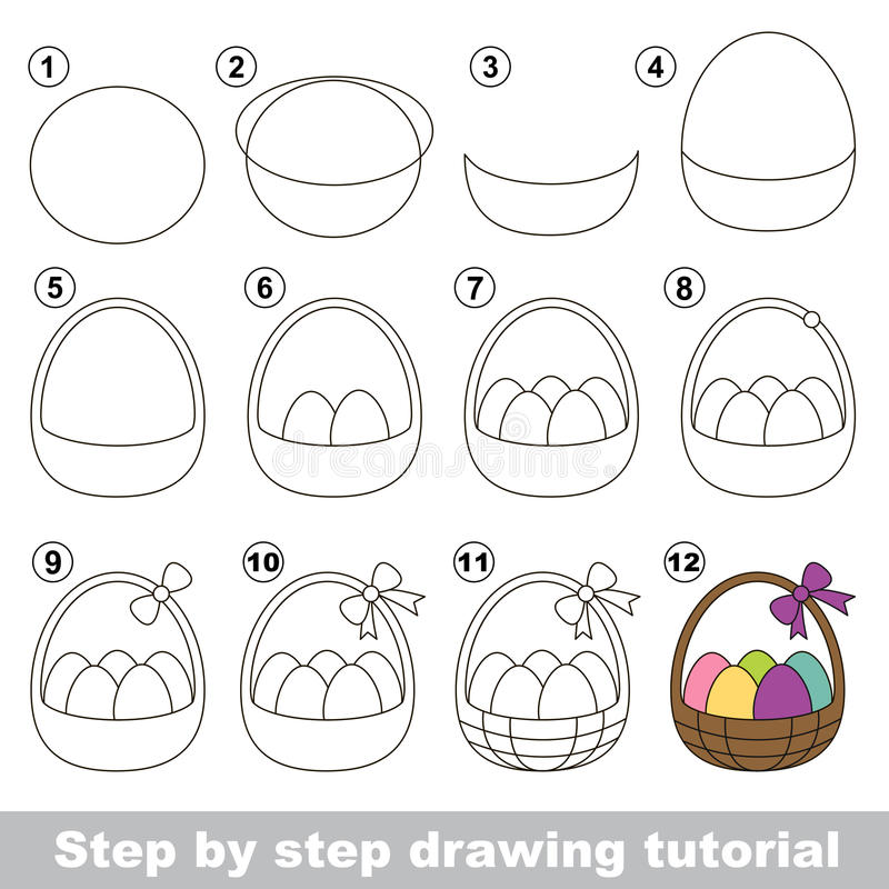 Free How To Draw A Easter Basket Stock Images - 65901054