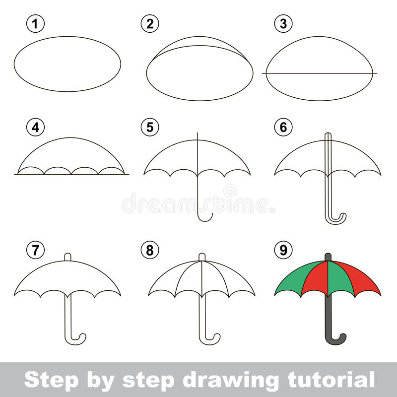 Download how to draw a umbrella stock vector illustration of learn 66010596