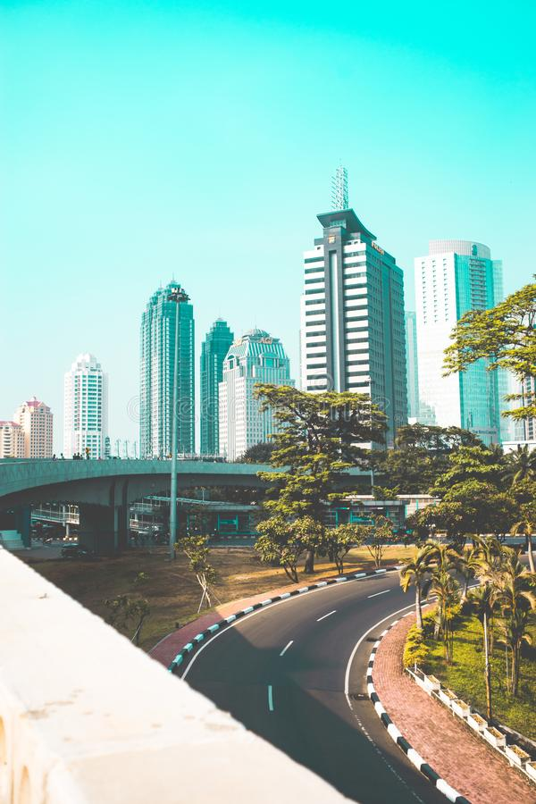 Jakarta's Skyscrapers royalty free stock photography