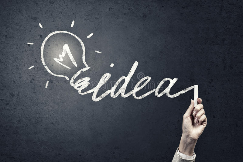 How to find good idea stock image