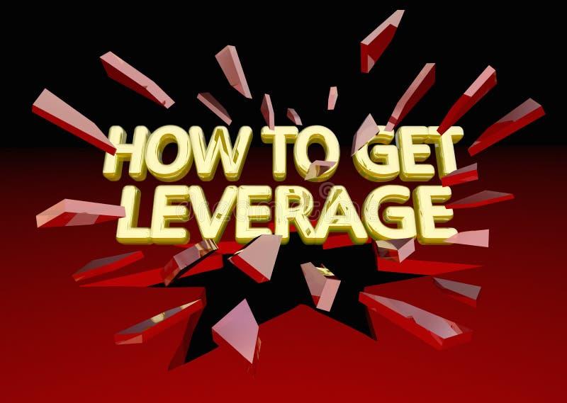 How to Get Leverage Power Advantage Breaking Glass 3d Illustration vector illustration