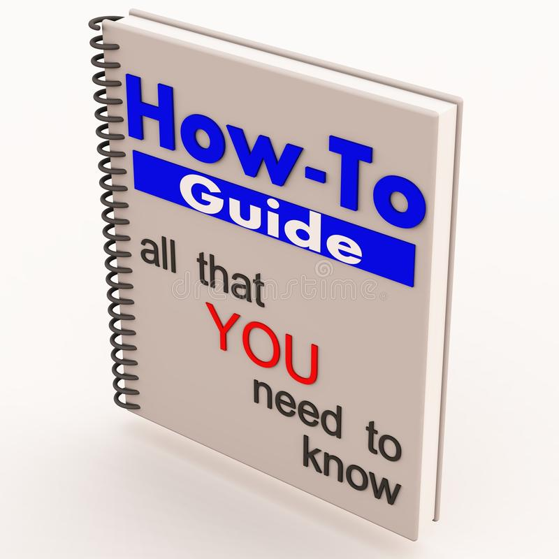 How to guide white. A white how to book or guide with instruction on do it yourself of diy self help guidance