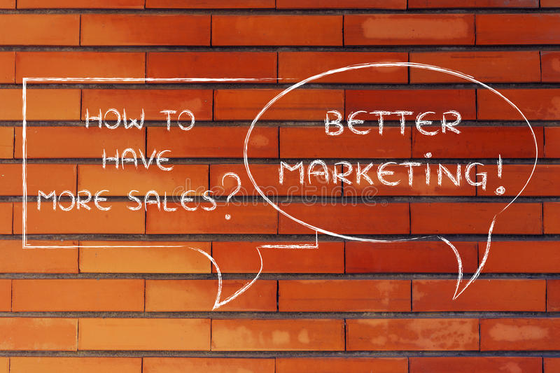 How to have more customers? better marketing royalty free stock photo