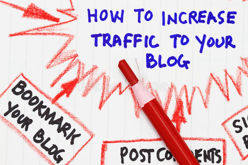 How to increase traffic to your website royalty free stock images