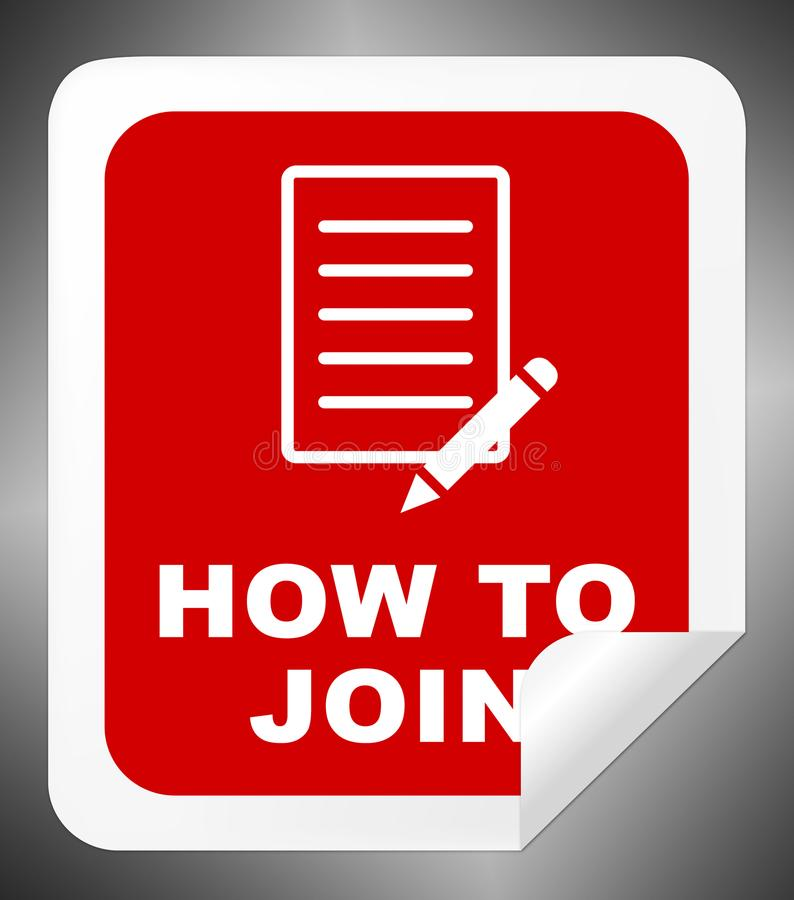 How To Join Shows Membership Registration 3d Illustration royalty free illustration