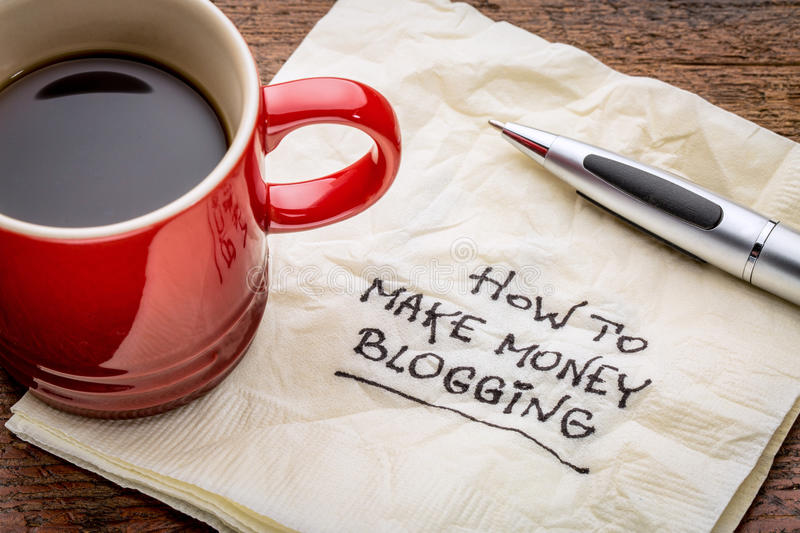 Download How to make money blogging stock image. Image of writing - 54321437