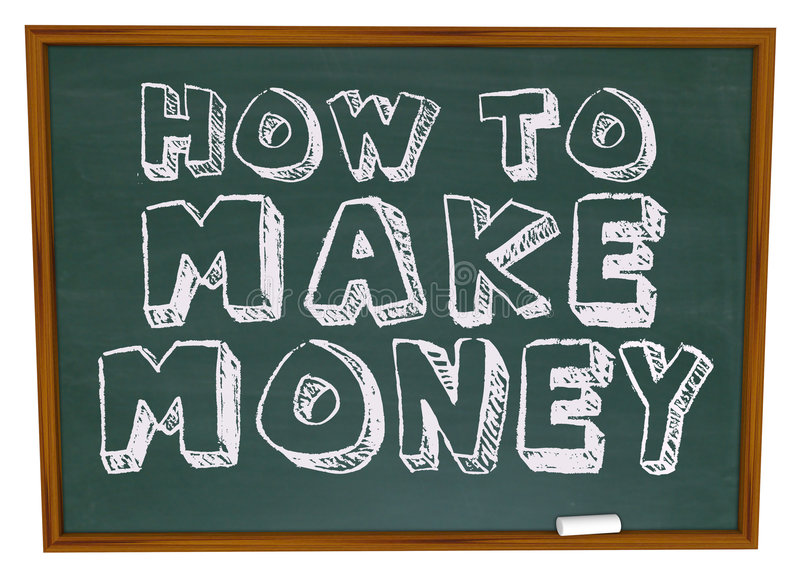 How to Make Money - Chalkboard royalty free illustration
