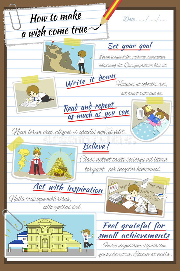How To Make A Wish Come True Infographic Template Design In Note