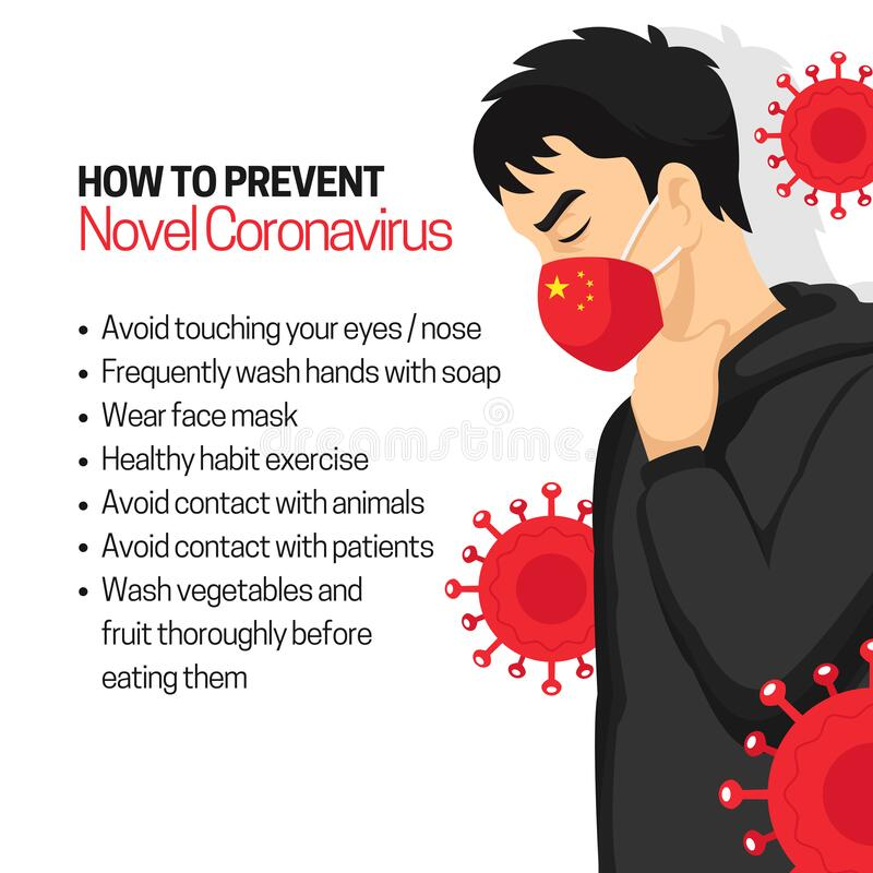 Free How To Prevent Novel Coronavirus Infographic Poster Background Design With Man Wearing Red Face Masker Vector Flat Illustration Stock Photo - 170884350