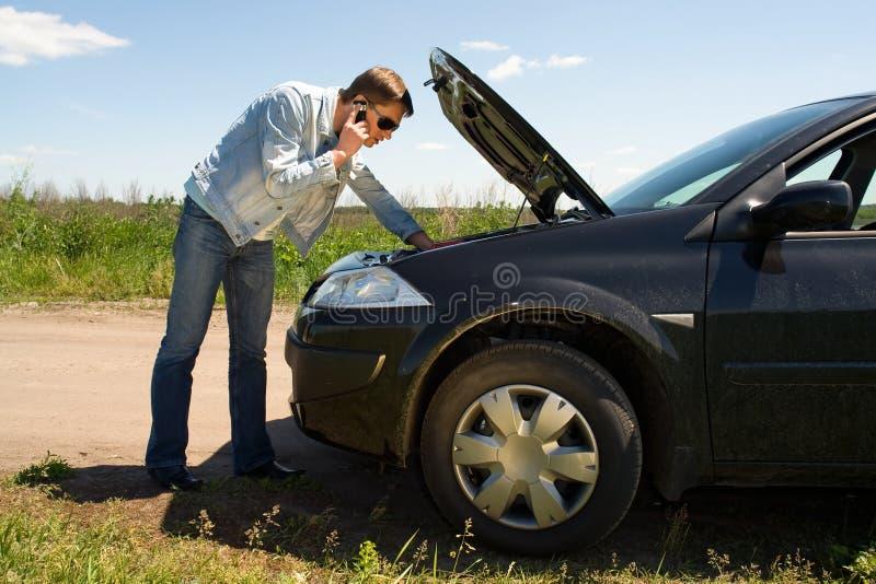 How to repair the car stock photos