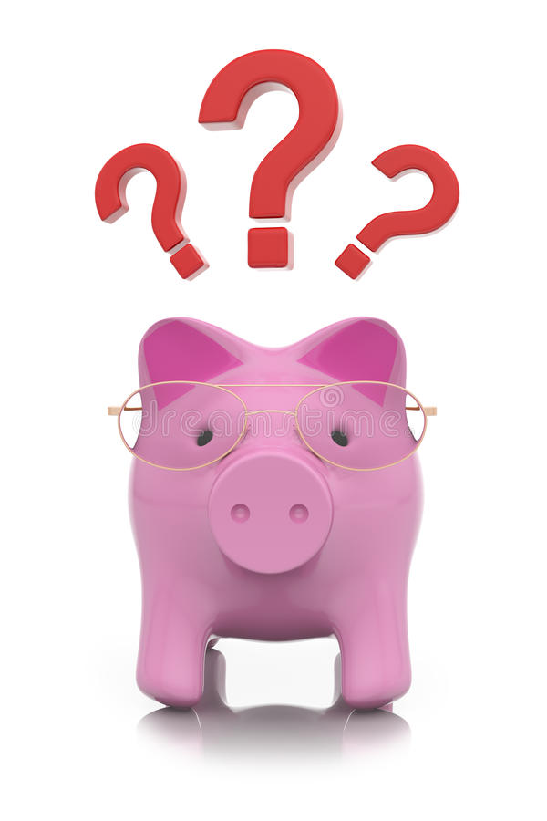 Download How To Save Money? Piggy Concept Stock Illustration - Image: 32436754