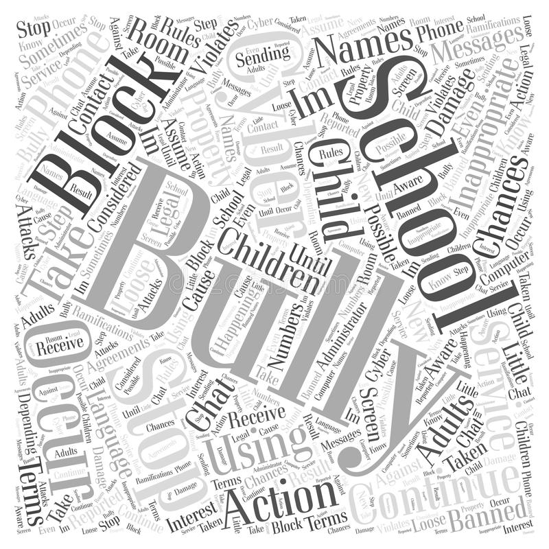 How to Stop Cyber Bullying word cloud concept word cloud concept vector background vector illustration