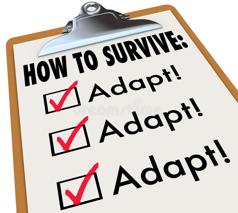 How to Survive Adapt Checklist Clipboard Advice Instructions Success vector illustration