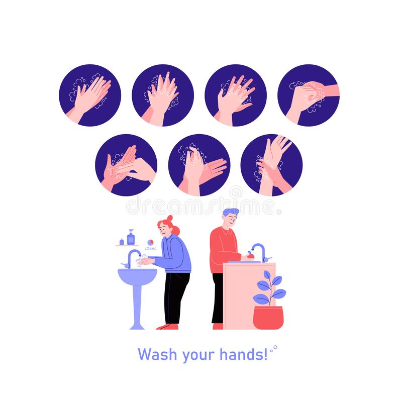 Free How To Wash Your Hands Properly Royalty Free Stock Images - 188599189