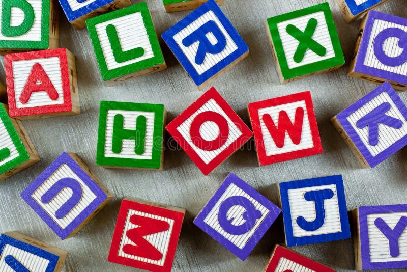 Download How stock photo. Image of teach, alphabet, literacy, block - 33957662