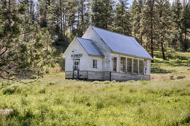 Howard One Room Schoolhouse imagens de stock royalty free