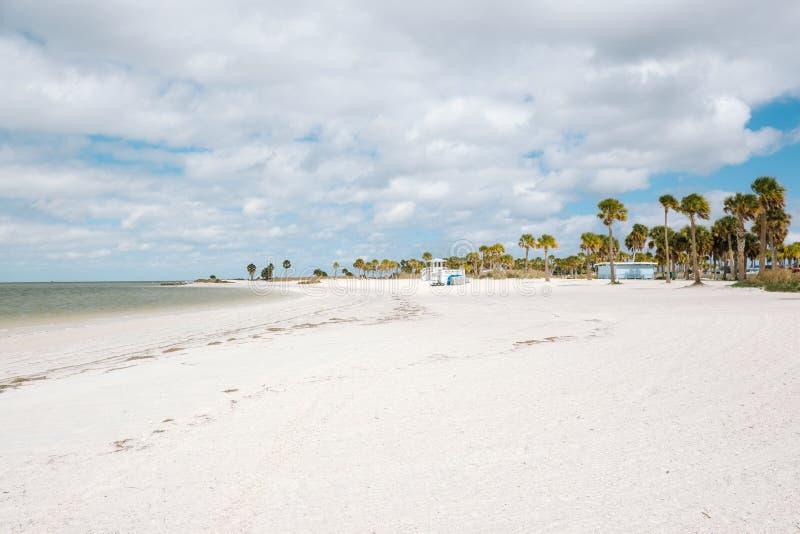 Howard Park, Tarpon Springs, FL United States - white sand beach. Howard Park, Tarpon Springs, FL United States of America - Beautiful white sand beach stock photos