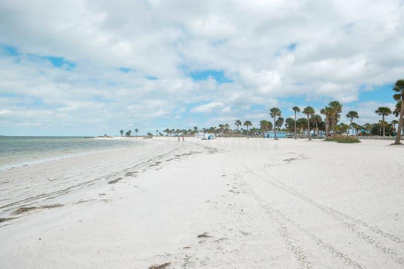 Howard Park, Tarpon Springs, FL United States - white sand beach. Howard Park, Tarpon Springs, FL United States of America - Beautiful white sand beach royalty free stock images