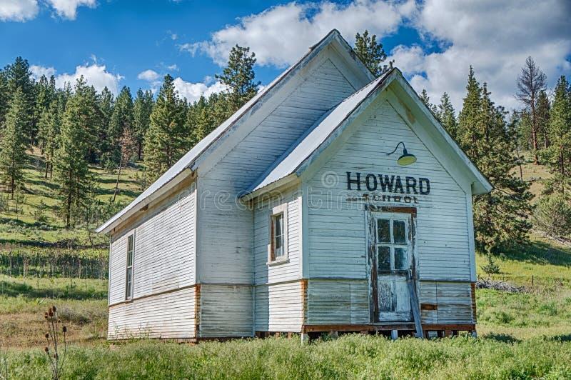 Howard Schoolhouse royalty-vrije stock foto