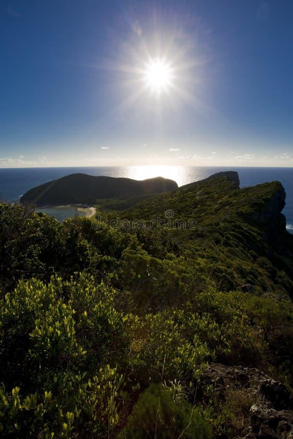 howe βουνό Λόρδου νησιών στοκ εικόνα
