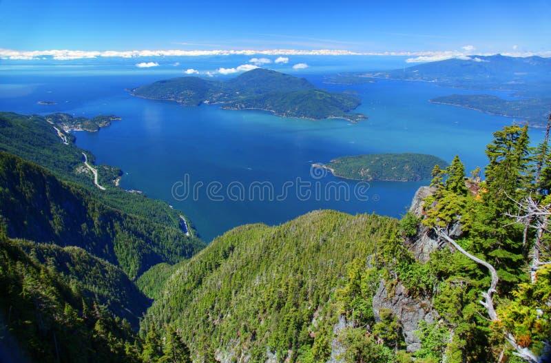 Howe Sound i British Columbia arkivfoton