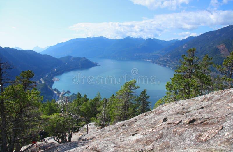 Howe Sound i British Columbia, Kanada fotografering för bildbyråer