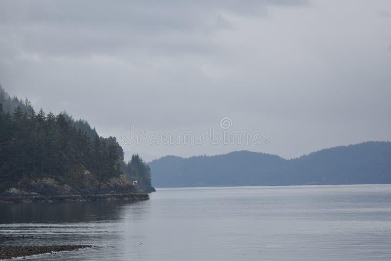 Howe Sound kustlinje royaltyfria foton