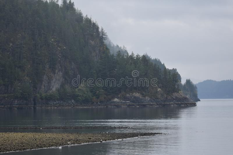 Howe Sound kustlinje arkivbilder