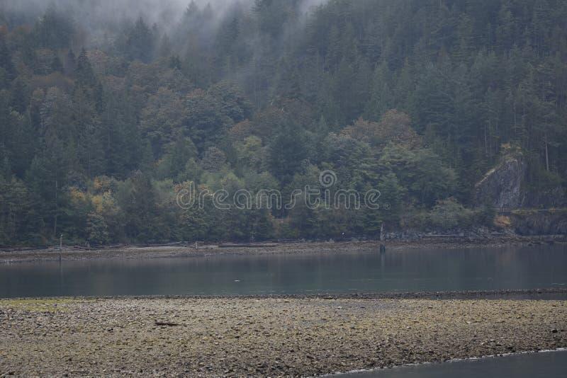 Howe Sound kustlinje arkivfoto