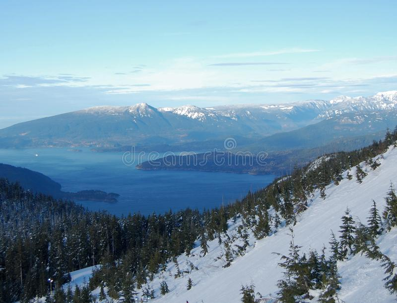 Howe Sound in winter stock image
