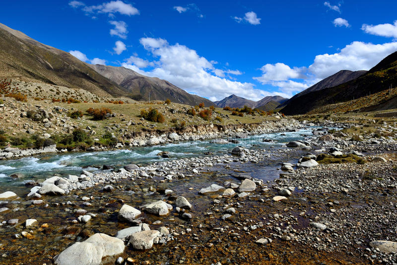 However lake scenery in Tibet stock images