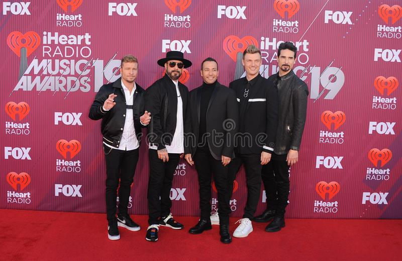 Howie Dorough, Nick Carter, Kevin Richardson, AJ McLean, Brian Littrell royalty-vrije stock afbeelding