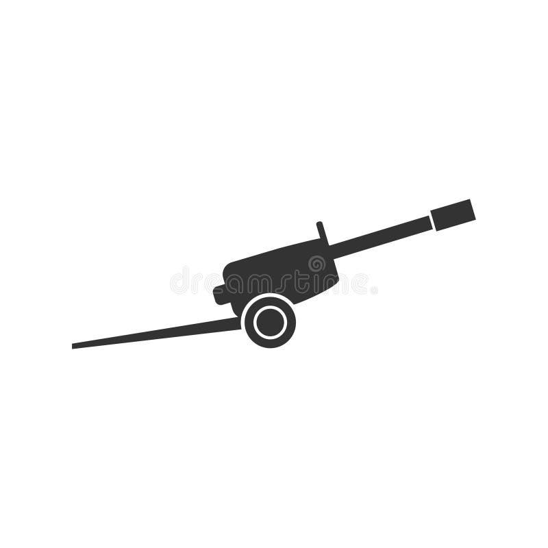 Howitzer εικονίδιο επίπεδο απεικόνιση αποθεμάτων
